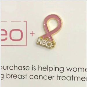 NBCF NATIONAL BREAST CANCER FUND Pink Ribbon Pin
